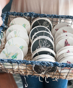 Ceramic Coasters by Michelle Smith at Gather